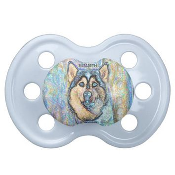 Blue Eyed Husky The Beautiful Dog Drawing BooginHead Pacifier