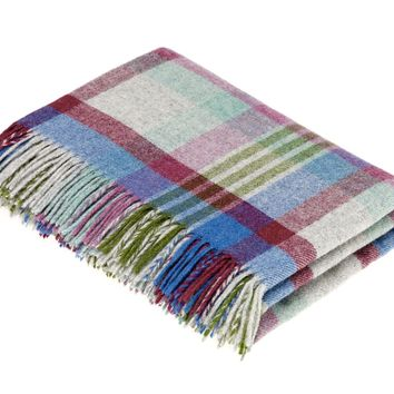 Melbourne - Pure New Wool Throw - Thistle