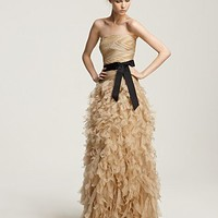 "Tadashi Shoji Strapless ""Feathery"" Gown - Evening - Bloomingdales.com"