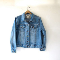 STOREWIDE SALE...vintage light blue jean jacket