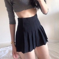Stylish Mini Skirt With safety pants