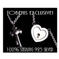 ULTRA DiSCREET 100% Solid 925 Sterling Silver Hypoallergenic FUNCTIONING Locking Lock BDSM Bondage Sub Submissive Pet  Day Collar & Key