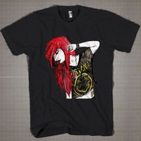 Hipster Ariel Nirvana Tee  Mens and Women T-Shirt Available Color Black And White