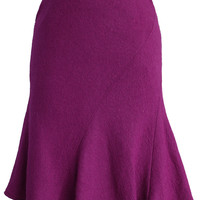 Flare Tweed Skirt in Purple Purple S