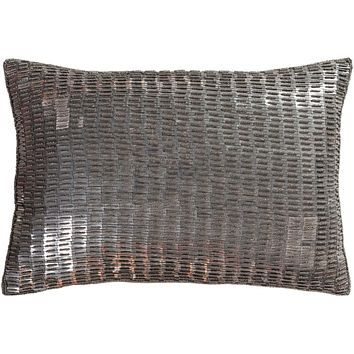 Ankara Pillow Kit - Metallic - Silver, Medium Gray - Poly - ANK001