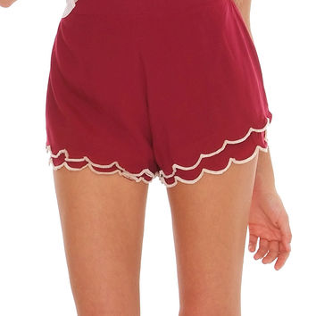 A Little Late Shorts - Red