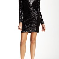 Kelly Long Sleeve Sequined Dress