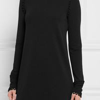 See by Chloé - Loop-detailed stretch-crepe mini dress