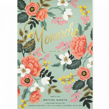 Mint Birch Monarch Notepad by RIFLE PAPER Co. | Made in USA