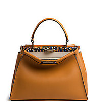Fendi - Peekaboo Tile-Accented Leather Satchel - Saks Fifth Avenue Mobile