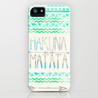 Hakuna Matata iPhone & iPod Case by Sara Eshak