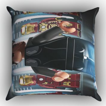 lego marvel superheroes iron man wallpaper Y1226 Zippered Pillows  Covers 16x16, 18x18, 20x20 Inches