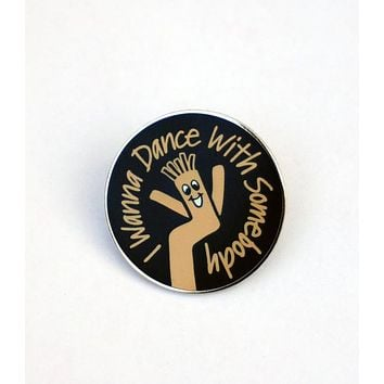 I Wanna Dance With Somebody Sky Dancer Lapel Pin