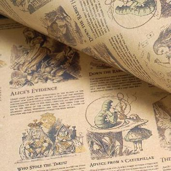vintage wrapping paper gift packing paper alice in wonderland,little prince background paper