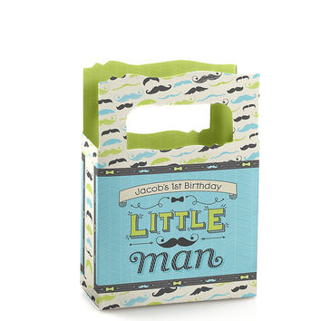 Dashing Little Man - Personalized Birthday Party Mini Favor Boxes