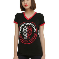 Twenty One Pilots Skeleton Clique Girls Athletic T-Shirt