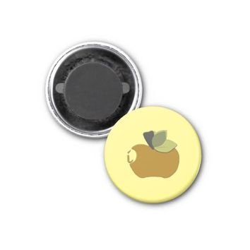 Dark Goldenrod Apple Magnet