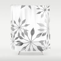 The beauty in gray Shower Curtain by Cecilia Andersson