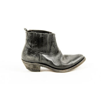 Black 38 EUR - 8 US Golden Goose Womens Ankle Boot G25D292 A1