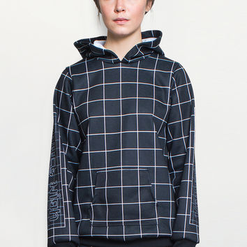 Grid Hooded Sweatshirt