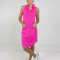 JoFit Ladies Millie Golf Dresses with Undershorts - Champagne (Tropical Pink)
