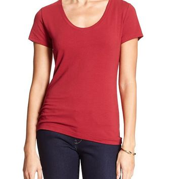 Banana Republic Factory Deep Scoop Neck Tee