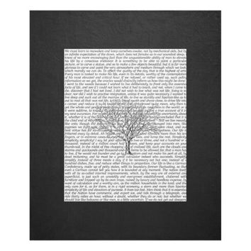 Walden Woods Literary Text Fleece Blanket
