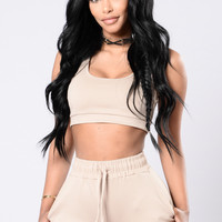 Vibrations Tank Top - Taupe