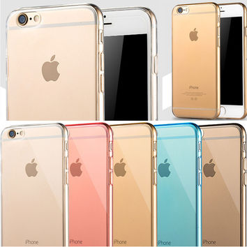 Ultra Slim Waterproof Phone Case For iPhone 6 6S plus case Silcone Soft Cover For iPhone 6plus 6s Plus Cases Clear Back Cover