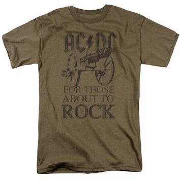 DCCKM83 Acdc - For Those About To Rock Short Sleeve Adult 18/1