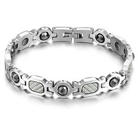 Steel Grey Stainless Steel Bracelet