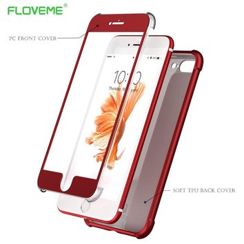 FLOVEME Cases For iPhone 6 6S 7 Plus Cover Matte Airbags Protective Soft TPU Phone Shells For iPhone 6 6S 7 Full Coverage Case