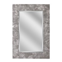 Swirl Raking Pewter Wall Mirror (1061) - Illuminada