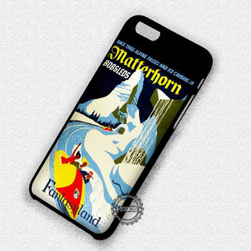 Matterhorn Fantasyland Vintage Poster - iPhone 7 6 5 SE Cases & Covers