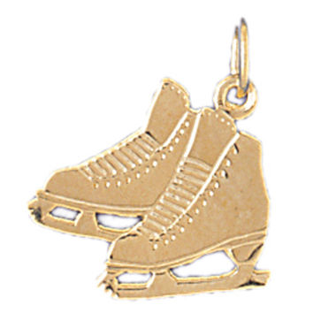14K GOLD SPORT CHARM - ICE SKATING BOOT #3534