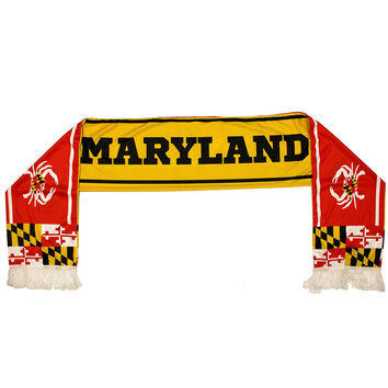 Maryland Flag & Crab (Yellow & Red) / Rally Scarf
