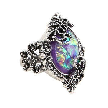Filigree Galaxy Stone Ring