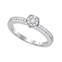 Diamond Fashion Ring in 10k White Gold 0.2 ctw