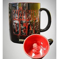 Molded Zombie The Walking Dead Coffee Mug 20 oz - Spencer's
