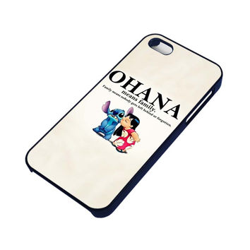 LILO AND STITCH OHANA FAMILY Disney iPhone 5 / 5S case