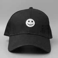 New 2016 Smile Face Curved Baseball Cap Adjustable Cotton Swag Men Women Snapback Hats Hip Hop Polos Hats Bone Aba Reta Gorra