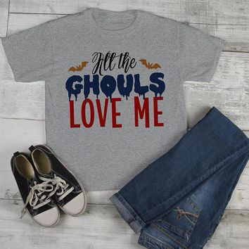 Boy's Funny Halloween T Shirt Ghouls Love Me Shirts Toddler Tee