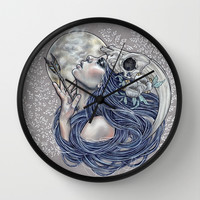 Final Breath Wall Clock by Wendy Ortiz