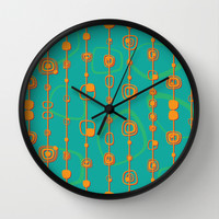 Vintage lines Wall Clock by Tony Vazquez