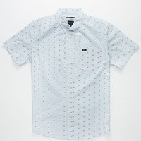 Rvca That'll Do Square Mens Shirt Indigo  In Sizes