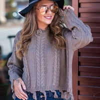 It's Sweater Weather Knit Distressed Sweater : Mocha