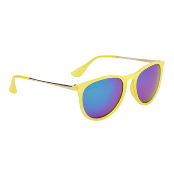 Bangers - Music Festival Sunglasses - Yellow + Green/Blue/Purple Lens
