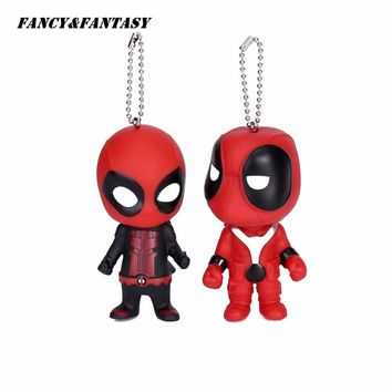 Deadpool Dead pool Taco Fancy&Fantasy Classic  Cute Doll Keychain mercenary  Rubber PVC Pendant Keychain Action Figure Toys Keyring Gift K-134 AT_70_6
