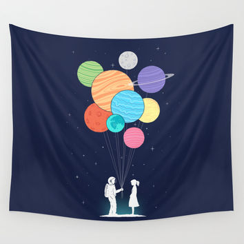 You are my universe Wall Tapestry by I Love Doodle | Society6