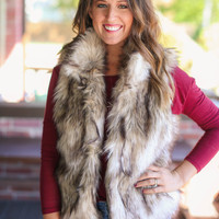 Feeling Foxy Fur Vest - Brown